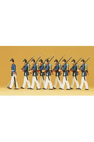 Preiser 12186 Прусская пехота 1910г в парадной форме 1/87