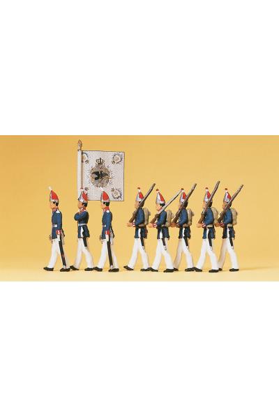Preiser 12188 Прусский 1-й гвардейский полк Потсдам 1894г 1/87