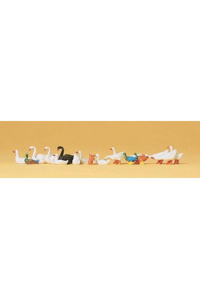 Preiser 14167 Утки гуси и лебеди 1/87