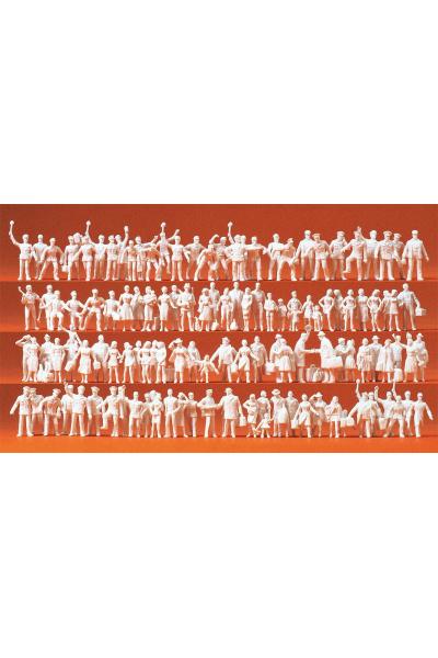 Preiser 16325 Железнодорожники и путешественники 120 неокрашенных фигур 1/87