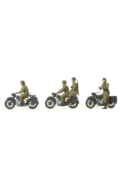Preiser 16598 Мотоциклисты вермахт 1/87