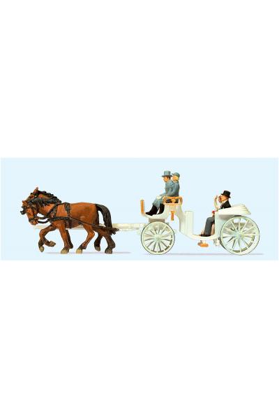 Preiser 30496 Свадебная карета открытая 1/87
