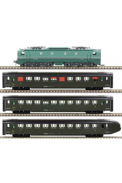 Ree CM-004S Набор WORLD RECORD TRAIN CC 7102 ЗВУК DCC SNCF Epoche III 1/87