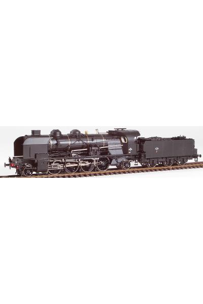 Ree MB-129S Паровоз 6-141 E 458 SNCF ЗВУК DCC Epoche III 1/87