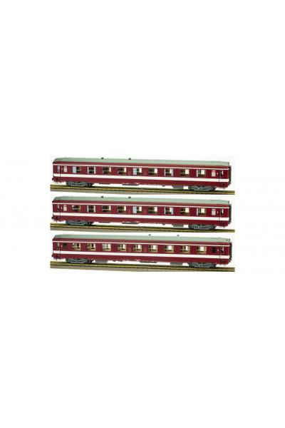 Ree VB105 Набор пассажирских вагонов A9 1кл Le Capitole SNCF Epoche IV 1/87