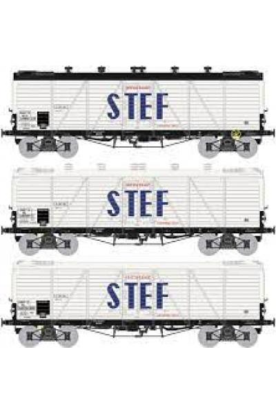 Ree WB-587 Набор вагонов FRIGO TP Aerator STEF SNCF Epoche III 1/87