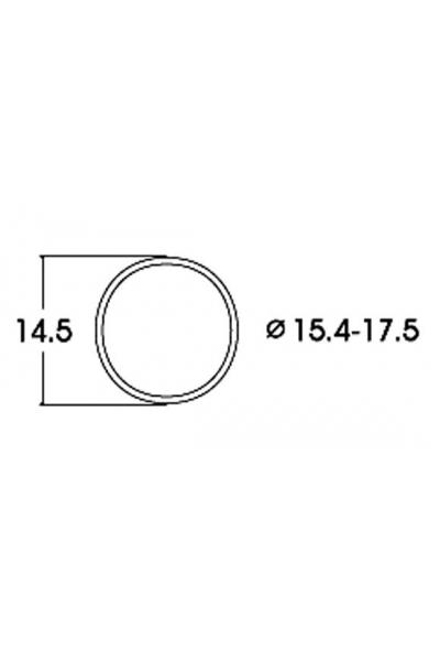 Roco 40076 Бандажи для колёс 15,4–17,5mm 10шт 1/87