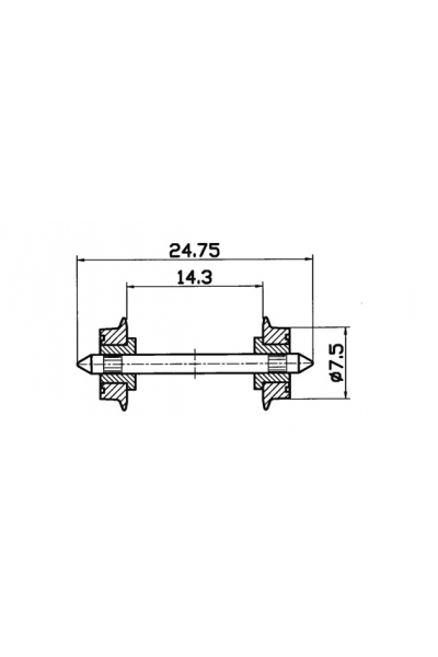 Roco 40189 Колёсные пары 2шт 1/87