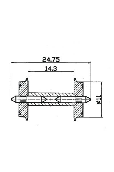 Roco 40192 Колёсные пары 2шт. 1/87