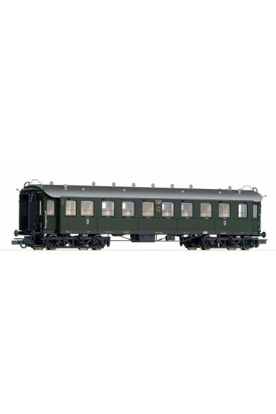 Roco 45586 Вагон пассажирский C4u 3кл DRG Epoche II 1/87