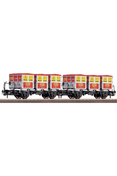 Roco 46997 Набор вагонов BTs 51 Haus-Haus DB Epoche III 1/87
