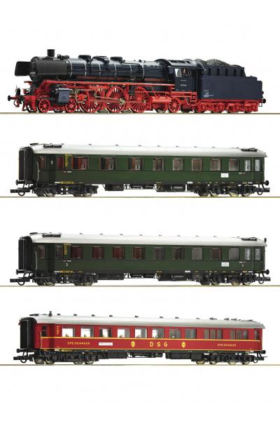 Roco 61474 Набор BR 03.10+3 вагона DB ЗВУК DCC Epoche III 1/87 RO