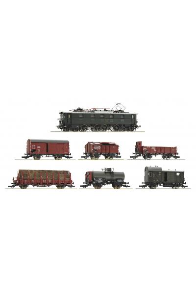 Roco 61492 Набор грузового поезда E 52 22+6 вагонов DRG Звук DCC Epoche 1/87