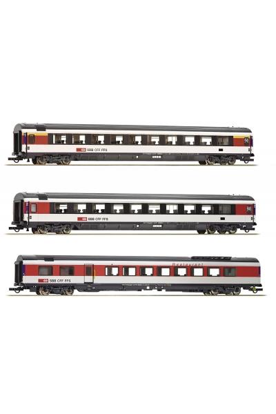 Roco 64143 Набор пассажирских вагонов EW IV SBB Epoche VI 1/87 RO