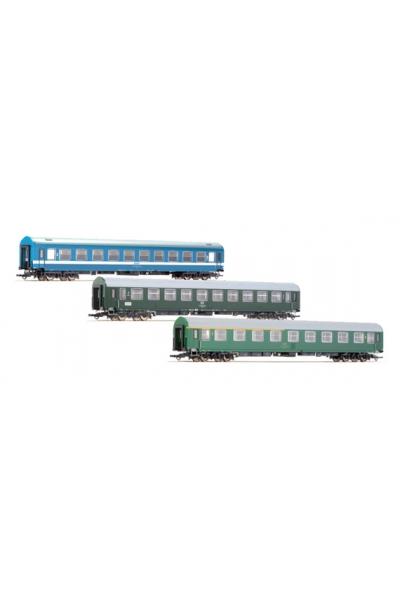 Roco 64196 Набор пассажирских вагонов D270 Meridian 2 DR CSD MAV  Epoche IV 1/87 RO