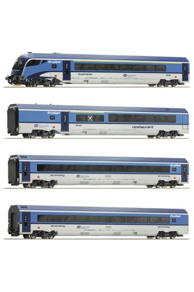 Roco 74064 Набор вагонов Railjet CD CD Epoche VI 1/87