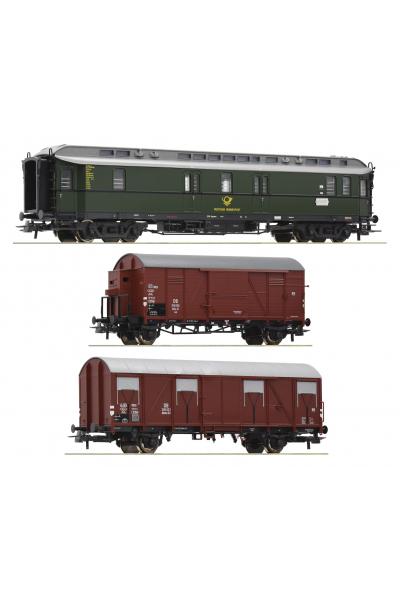 Roco 74091 Набор вагонов Postzugset DB Epoche III 1/87