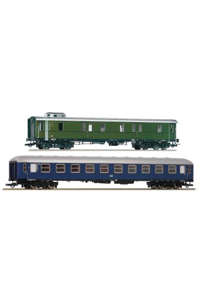Roco 74098 Набор вагонов A4um+Bauart 37 DB Epoche III 1/87 RO