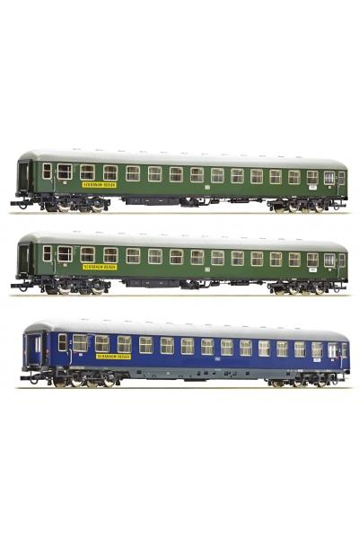 Roco 74127 Набор пассажирских вагонов Scharnow Reisen DB Epoche III 1/87 RO