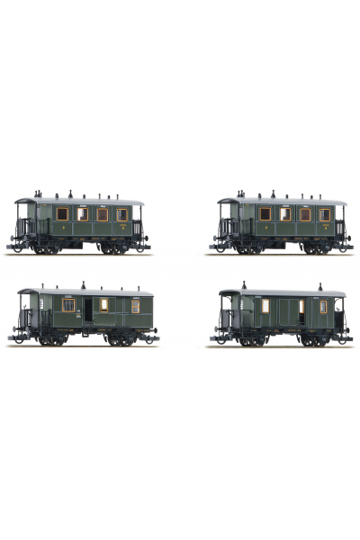 Roco 74187 Набор вагонов K.Bay.Sts.B. Epoche I 1/87