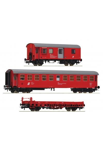 Roco 76050 Набор вагонов Bauzug OBB Epoche V 1/87