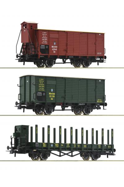Roco 76094 Набор вагонов K.Bay.Sts.B. Epocha I 1/87 VN