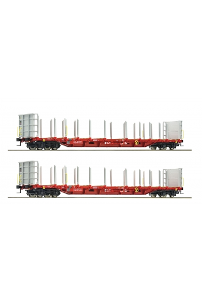 Roco 76141 Набор платформ Rnoos uz-3523 Rail Cargo Austria OBB Epoche VI 1/87