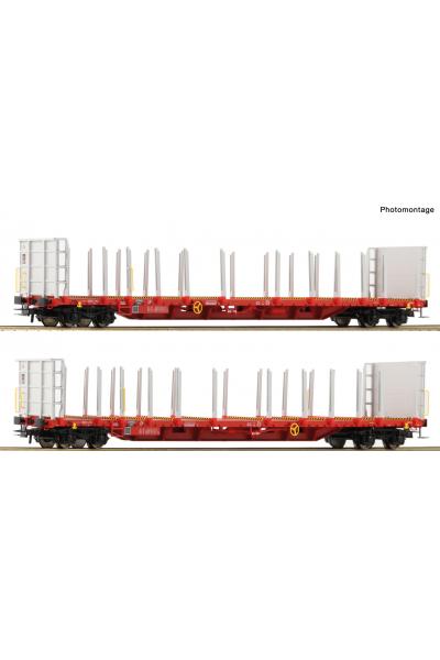 Roco 76142 Набор вагонов Rnoos-uz Rail Cargo Wagon (RCW) Epoche VI 1/87 VN