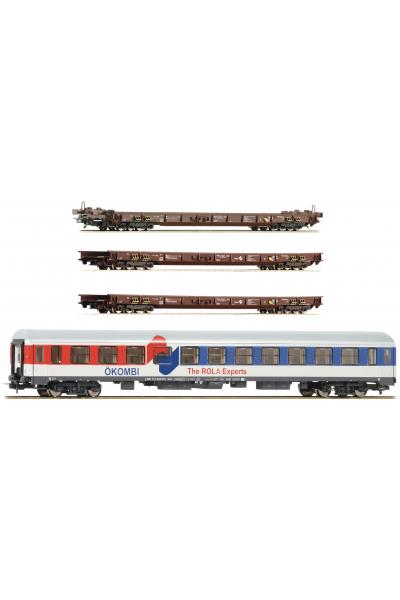 Roco 76346 Набор вагонов Rollende Landstrasse OBB Epoche VI 1/87 RO