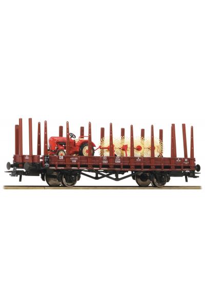 Roco 76988 Вагон платформа R10 DB Epoche III 1/87 VN