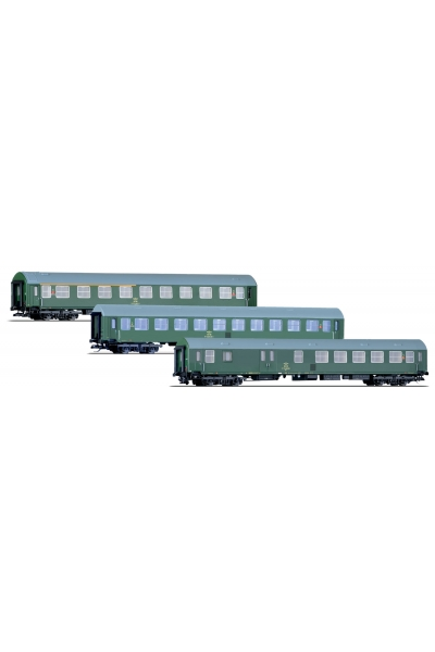 Tillig 01697 Набор пассажирских вагонов OSE Epoche IV 1/120