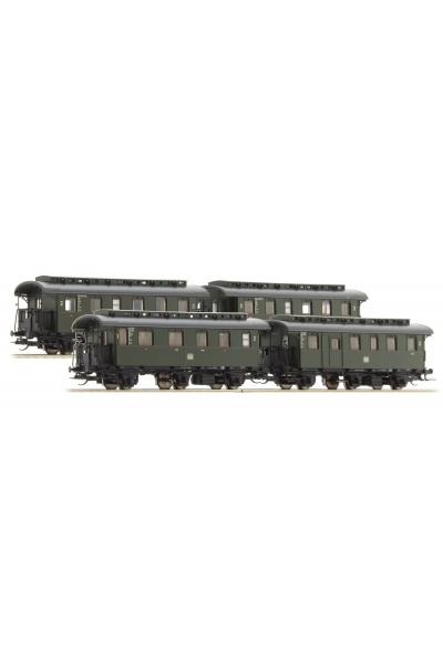 Tillig 01728 Набор пассажирских вагонов 4шт DB Epoche III 1/120