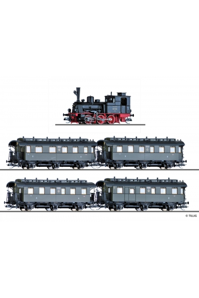 Tillig 01751 Вагон BR 89.70 + 4 вагонов DRG Epoche II 1/120