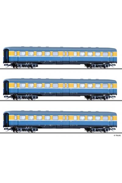 Tillig 01775 Набор пассажирских вагонов S-Bahn Leipzig DR Epoche IV  1/120