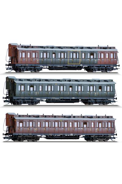 Tillig 01814 Набор вагонов K.P.E.V Epoche I 1/120