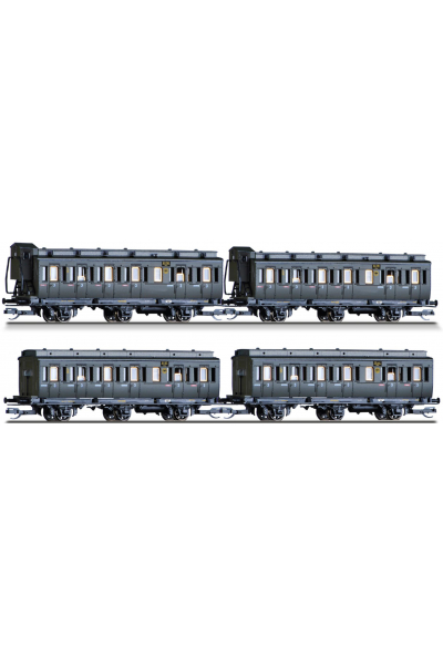 Tillig 01815 Набор пассажирских вагонов 4шт DRG Epoche II 1/120
