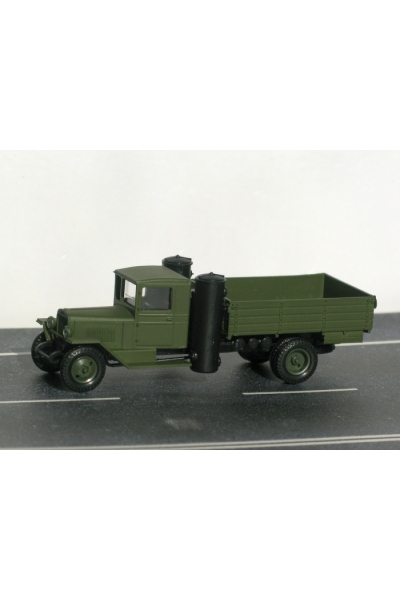 Auto ZIS5GH Автомобиль ЗИС 5 газогенератор бортовой хаки 1/87