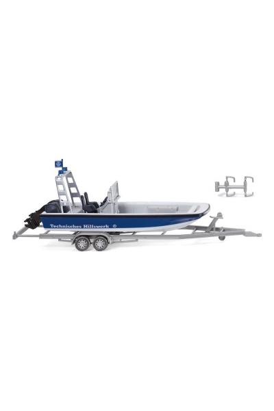 Wiking 009546 Прицеп с лодкой Epoche V 1/87