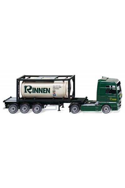 Wiking 053601 Автомобиль MAN TGX с контейнером Rinnen Epoche VI 1/87