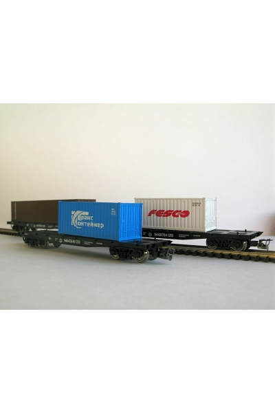Пересвет 3801 Набор платформ с контейнерами РЖД эпоха V 1/120