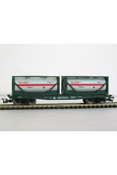 Пересвет 3817 Платформа с танк-контейнерами РЖД эпоха V 1/120