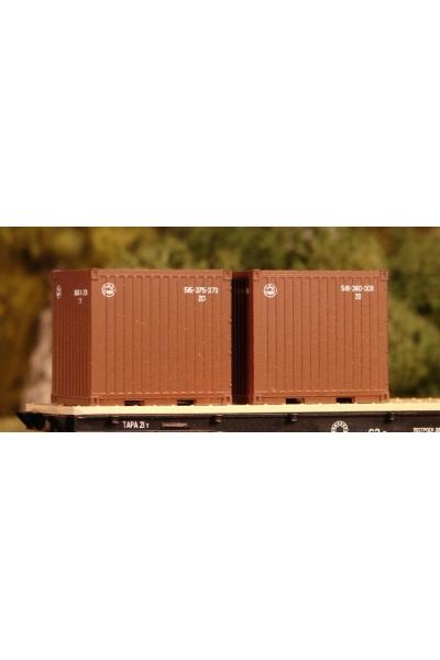 Пересвет 5612 Набор контейнеров РЖД 1/120